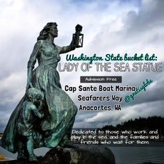 Need something to do for free in Anacortes, Washington? Check out the Lady of the Sea Statue! (click through for more info)
