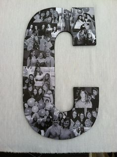 Custom  Photo Collage letter  - Girlfriend gift - College dorm room decor on Etsy, $49.95