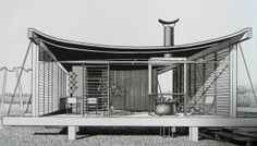 """Rudolph's renderings were intricately detailed. This is a rendering of the Healy Guest House, also known as the Cocoon House, which was completed in 1950 on Siesta Key and stil stands. The rendering is from """"Paul Rudolph: The Florida Houses,"""" by Joe King and Christopher Domin."""