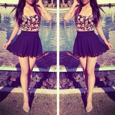 Cute Summer Outfits For Teens 65 - Fashiotopia Cute Summer Outfits For Teens, Cute Spring Outfits, Teenage Girl Outfits, Cute Outfits, Floral Outfits, Floral Skirts, Fashionable Outfits, Winter Outfits, Preteen Fashion