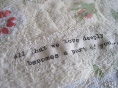 I adore inspiring quotes...  www.tilly-rose.co.uk #vintage #handmade #tillyrose
