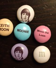 Custom Keith Moon M & Ms candy.  Fabulous!