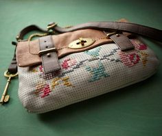 You can embroider on Fossil's Mason bag