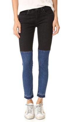 Blank Denim Two Tone Raw Hem Jeans   SHOPBOP