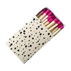 Little pop of glam in the form of matches.