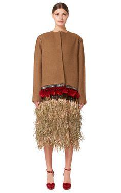 Marni Alpaca Wool Felt Coat With Goose Feather Trim $6,890