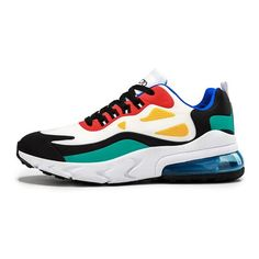 2020 Casual Fashion Male Footwear Air Cushion Breathable Mesh Colorful Sneakers, Casual Sneakers, Sneakers Fashion, Casual Shoes, Fashion Shoes, Men Casual, Mens Fashion, Shoes Sneakers, Winter Sneakers