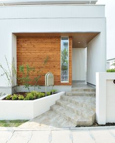 Japanese Home Design, Japanese House, Minimalist House Design, Minimalist Home, Small Doors, Small Buildings, Facade Architecture, Small House Plans, Prefab