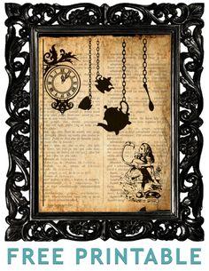 Alice In Wonderland printable...soooooo cute! Best part? FREE