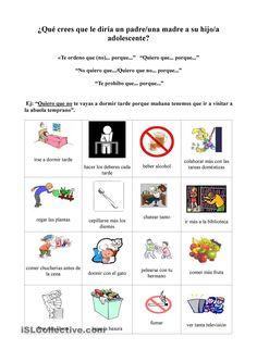 Presente de sbj: querer que / Ejercicio ( los padres quieren que sus hijos...)