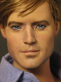 Robert Redford I don't think it look a lot like Robert, but it is still a beautifully done doll Pretty Dolls, Beautiful Dolls, Ooak Dolls, Art Dolls, Celebrity Barbie Dolls, Guys And Dolls, Valley Of The Dolls, Robert Redford, Doll Repaint