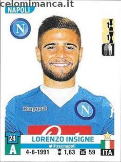 Calciatori 2015-2016: Fronte Figurina n. 404 Lorenzo Insigne
