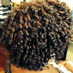 Rod Set on Natural Hair by Aingeelz