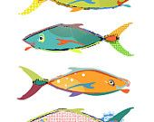 colourful fish graphic