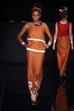 Gilber Lopaka - Aboriginal Fashion Show in Brazil, December 2012. Photo: Charles Naseh