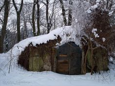 """Cellar"" - celllar entrance in the snow - by *rici66 on deviantART"