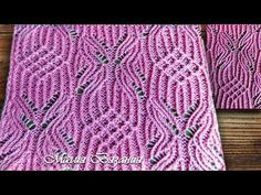 Ажурный узор спицами. Шикарный свитер | Вязаные Идеи. Lace Knitting Patterns, Knitting Charts, Knitting Stitches, Knitting Videos, Loom Knitting, Baby Knitting, Knitted Shawls, Filet Crochet, Handmade