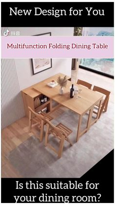 Multifunction Folding Dining Table #corner #dining #table #diy #cornerdiningtablediy Folding Furniture, Space Saving Furniture, Furniture For Small Spaces, Home Decor Furniture, Furniture Projects, Diy Home Decor, Furniture Storage, Furniture Plans, Wood Projects