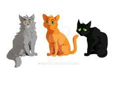 The Other Warrior Cat Trio by Sno-wy.deviantart.com on @DeviantArt