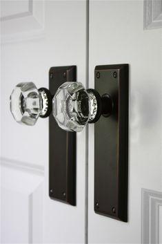 Bedroom Door Handles, Bedroom Doors, Ceramic Door Knobs, Antique Door Knobs, Crystal Door Knobs, Glass Door Knobs, Black Interior Doors, Black Doors, Glass Closet Doors