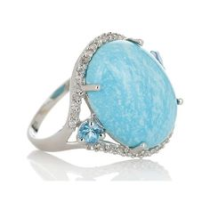 Heritage Gems White Cloud Turquoise Blue Topaz White Zircon Sterling... (€72) ❤ liked on Polyvore featuring jewelry, turquoise jewelry, green turquoise jewelry, zircon jewelry, sterling silver turquoise jewelry and sterling silver jewelry