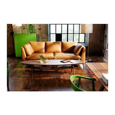 Kanske en sådan här soffa till barnens tv-rum... STOCKHOLM 3-sits soffa - Seglora natur - IKEA