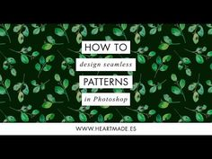 Today I want to show you how to design a seamless pattern in Photoshop that you can use for fabrics, any kind of prints or even home decor wallpaper. To create the pattern on the exam… Photoshop Youtube, Photoshop Brushes, Photoshop Tutorial, Photoshop Actions, Adobe Photoshop, Photoshop For Photographers, Photoshop Photography, Leaf Illustration, Advanced Photoshop