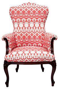 Vintage Trove Decor Coral Parlor Chair