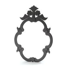 Black Glass Venetian Mirror Clear Center Wall or Vanity New