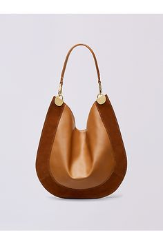 Leather and Suede Hobo