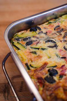 Piratage Culinaire: Clafoutis aux courgettes, au jambon et aux olives