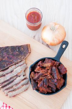 Learn how to make a butter-knife-tender brisket and burnt ends in a Saint Louis-style barbecue sauce. Recipe and directions on GoodieGodmother.com Grilled Brisket, Beef Brisket Recipes, Bbq Brisket, Smoked Beef Brisket, Rib Recipes, Beef Barbecue, Barbecue Recipes, Barbecue Sauce, Burnt Ends
