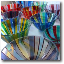 Alex R's glassware will be on show throughout the house with new large scale pieces.  The Glass Studio, 47 Pymers Mead, SE21