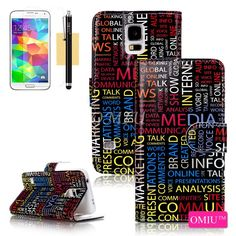 Case, Galaxy Case, Flip Case, OMIU(TM) [Printed Pattern Series & Photo Frame Design] Fashion Premium PU Leather Stand Wallet Flip Case Cover Fit For Samsung Galaxy Sent Stylus, Screen Protector and Cleaning Galaxy S5 Case, Samsung Galaxy S5, Phone Case Store, Photo Frame Design, Stylus, Screen Protector, Pu Leather, Cell Phone Accessories, Cleaning