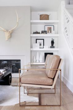 dusty rose and gold / | Home . Living  | Dusty Rose, Shelving and Relaxing Living Rooms