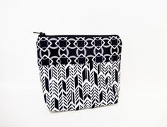 Large Zipper Pouch Cosmetic Bag Toiletry Bag by handjstarcreations