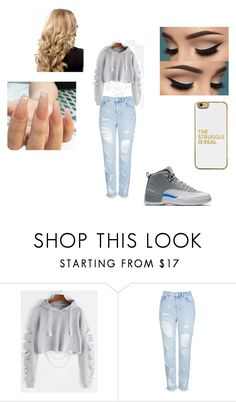 """""""Untitled #2"""" by jaedakeomyxay ❤ liked on Polyvore featuring Topshop and BaubleBar"""