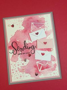 stampin up valentines cards ideas Card Kit, Card Tags, Scrapbooking, Scrapbook Cards, Valentine Love Cards, Watercolor Cards, Watercolour, Card Making Inspiration, Creative Cards