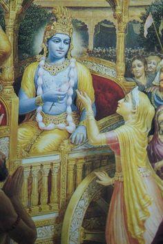 By Bhaktisiddhanta Swami Srila Prabhupada, our most noteworthy example, established an international society amidst overwhelming physical handicaps or apparent setbacks that became a precursor to a… Shiva Art, Ganesha Art, Krishna Art, Hindu Art, Krishna Lila, Shree Krishna, Hare Rama Hare Krishna, Krishna Avatar, Kerala Mural Painting