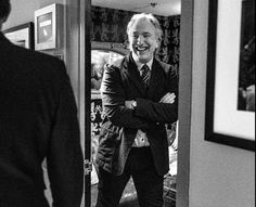 October 9, 2013 -- Alan Rickman at NBC Studios. He had a spot on Late Night with Jimmy Fallon - it was hilarious.