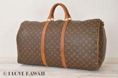 Louis Vuitton Monogram Keepall 60 Bandouliere Travel Bag M41412