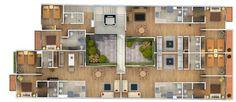 12 Captivating Architectural 3D Colored Floor Plans