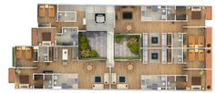 12 Captivating Architectural 3D Colored Floor Plans