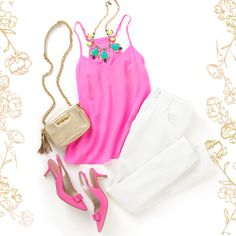Lilly Pulitzer Dusk Silk Top Look #LongLunchesShortDresses