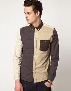 Enlarge ASOS Cut And Sew Shirt - would be nice in greens