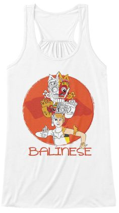 Bali Dancer White Women's Tank Top Front