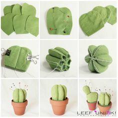 Leef Uniek | DIY | Creatief *Speldenkussen maken in de vorm van een cactus*