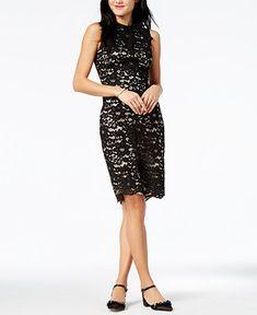 ef2e9e6111a96 Vince Camuto Sleeveless Lace Bow Dress Women - Dresses - Macy s