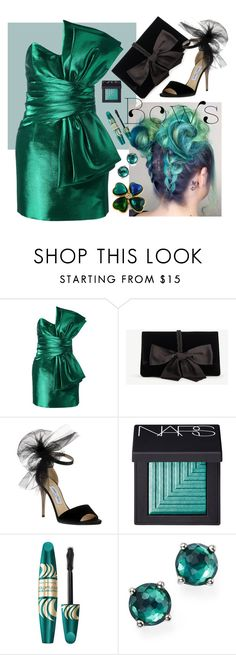 """Bows"" by dogzprinted ❤ liked on Polyvore featuring Yves Saint Laurent, Ann Taylor, Jimmy Choo, NARS Cosmetics, Max Factor, Ippolita and bows"