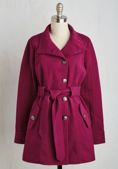 Field Commentator Coat in Fuchsia. Whether youre moderating a parade or covering a breaking report, you always turn to this fucshia coat from Jack by BB Dakota for on-the-scene style. #pink #modcloth